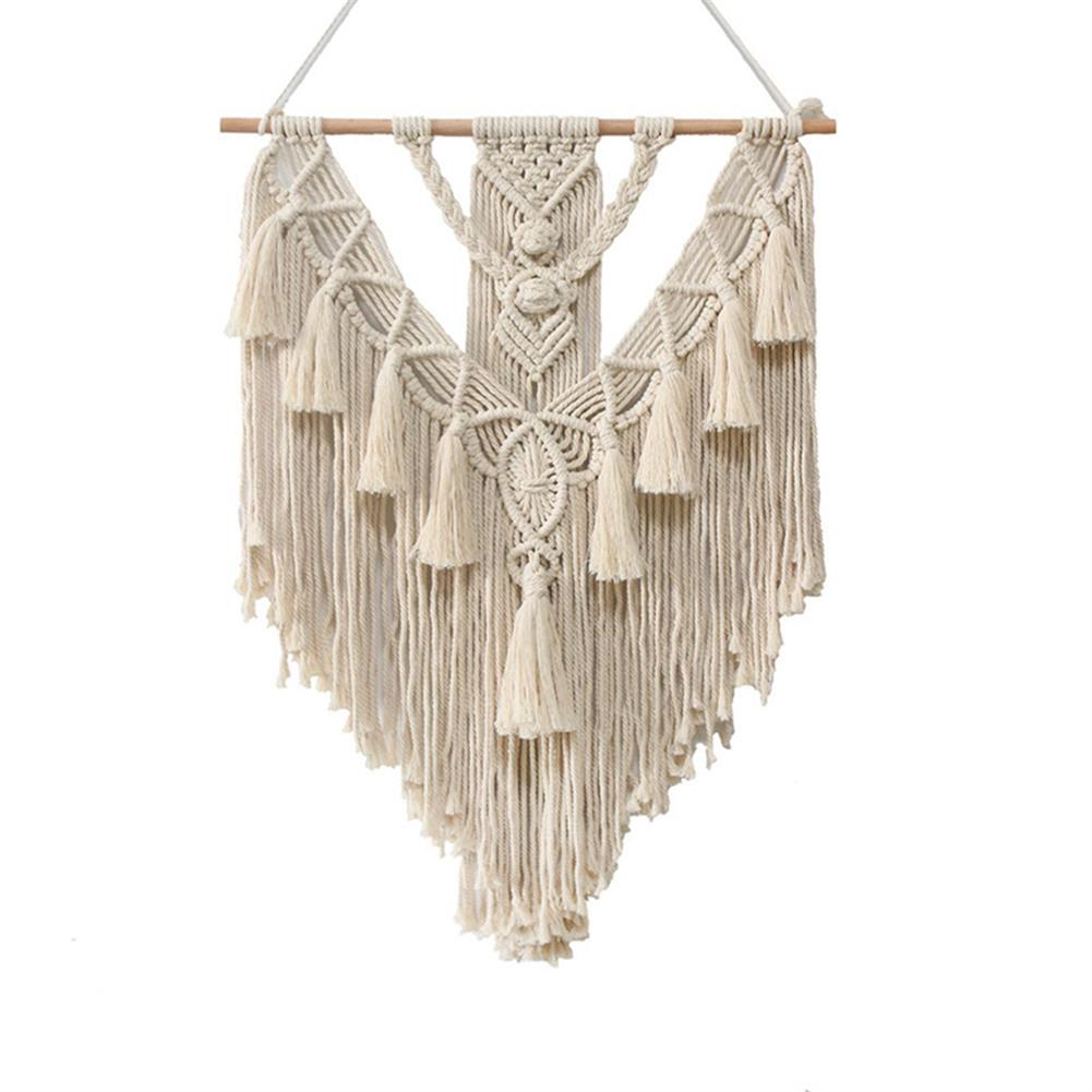other-learning-office-supplies Wall Hanging Tapestry Beige Bohemian Style Cotton Wall Hanging Hand Braid for Home office Decor HOB1787866 1
