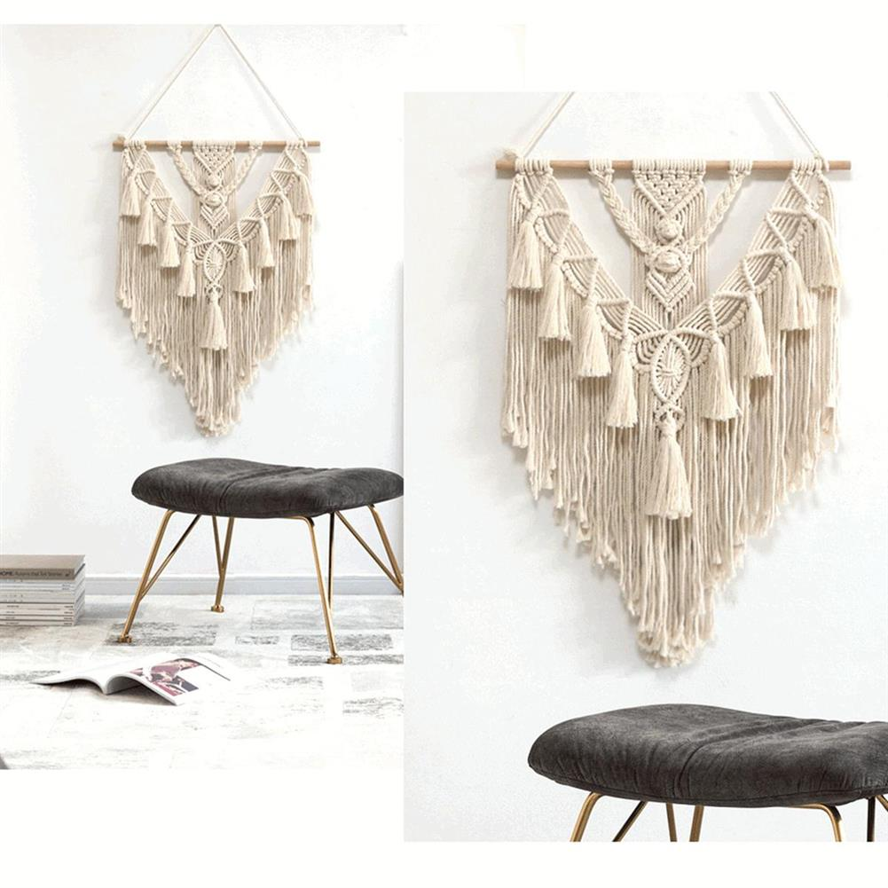 other-learning-office-supplies Wall Hanging Tapestry Beige Bohemian Style Cotton Wall Hanging Hand Braid for Home office Decor HOB1787866 1 1