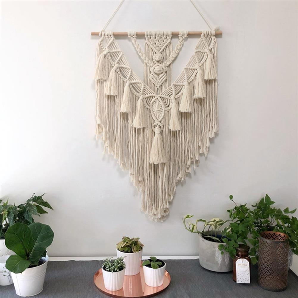 other-learning-office-supplies Wall Hanging Tapestry Beige Bohemian Style Cotton Wall Hanging Hand Braid for Home office Decor HOB1787866 2 1
