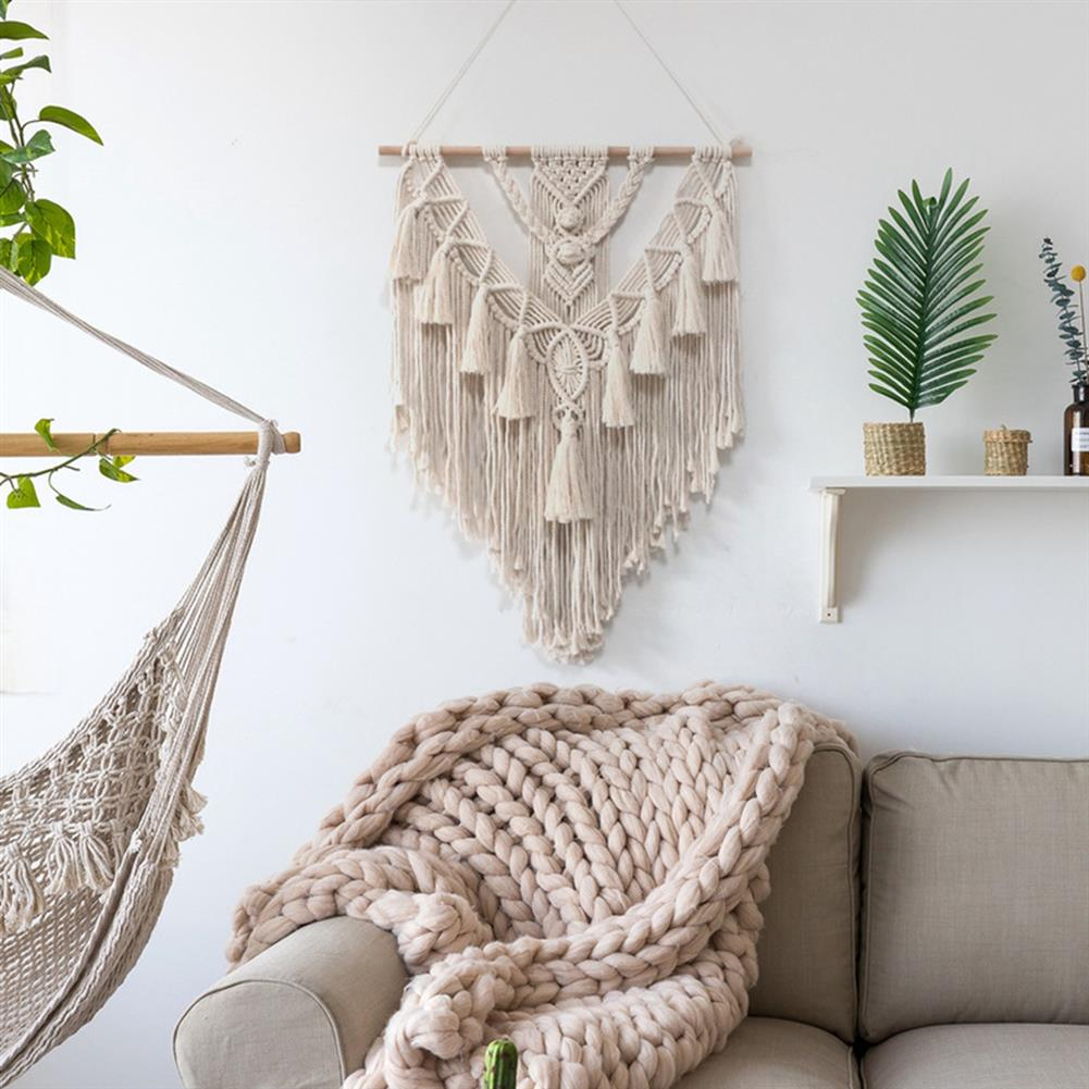 other-learning-office-supplies Wall Hanging Tapestry Beige Bohemian Style Cotton Wall Hanging Hand Braid for Home office Decor HOB1787866 3 1