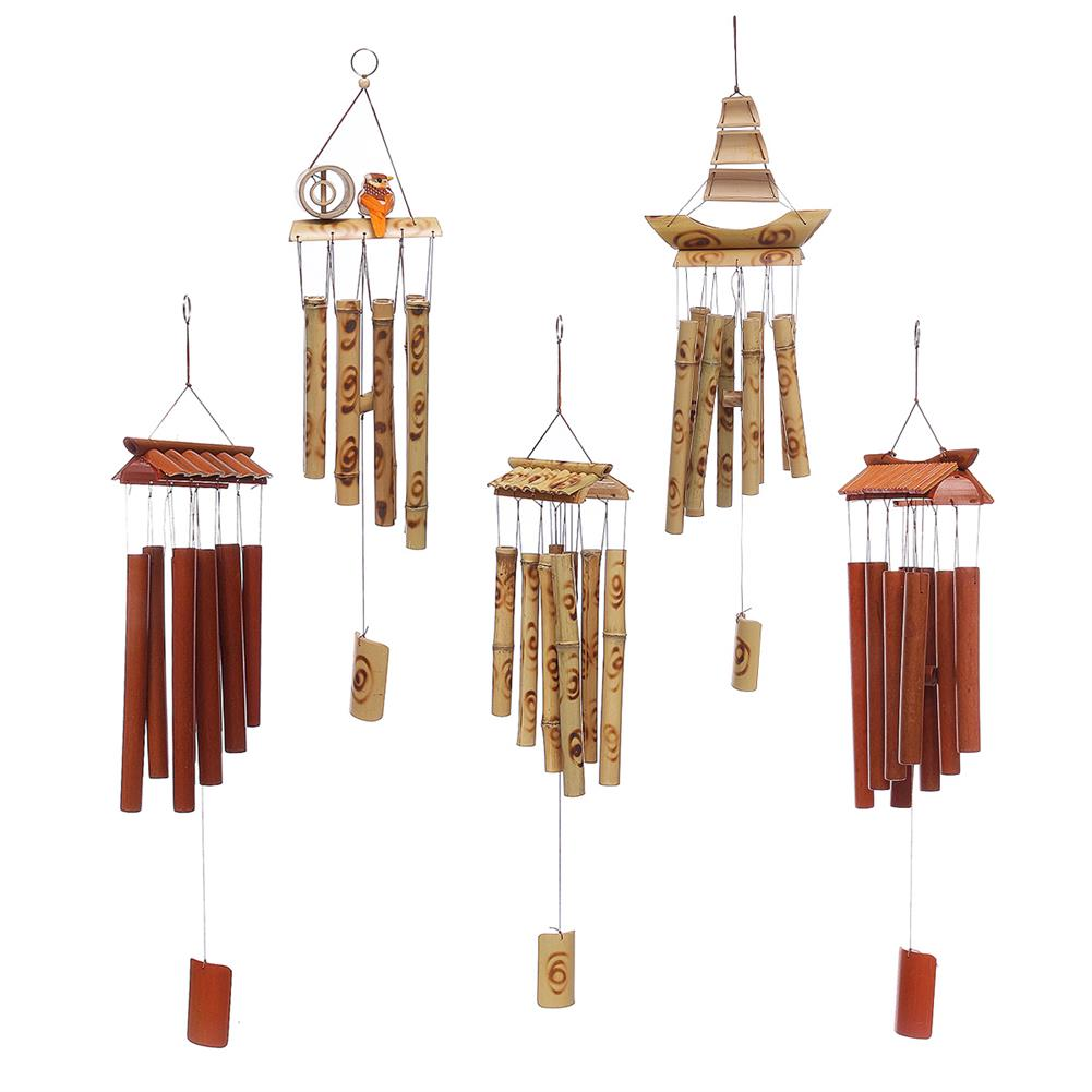 other-learning-office-supplies Bamboo Wind Chimes Natural Handmade Craft Wind Chimes for Home Roof Garden Decoration Bird House HOB1787903 1