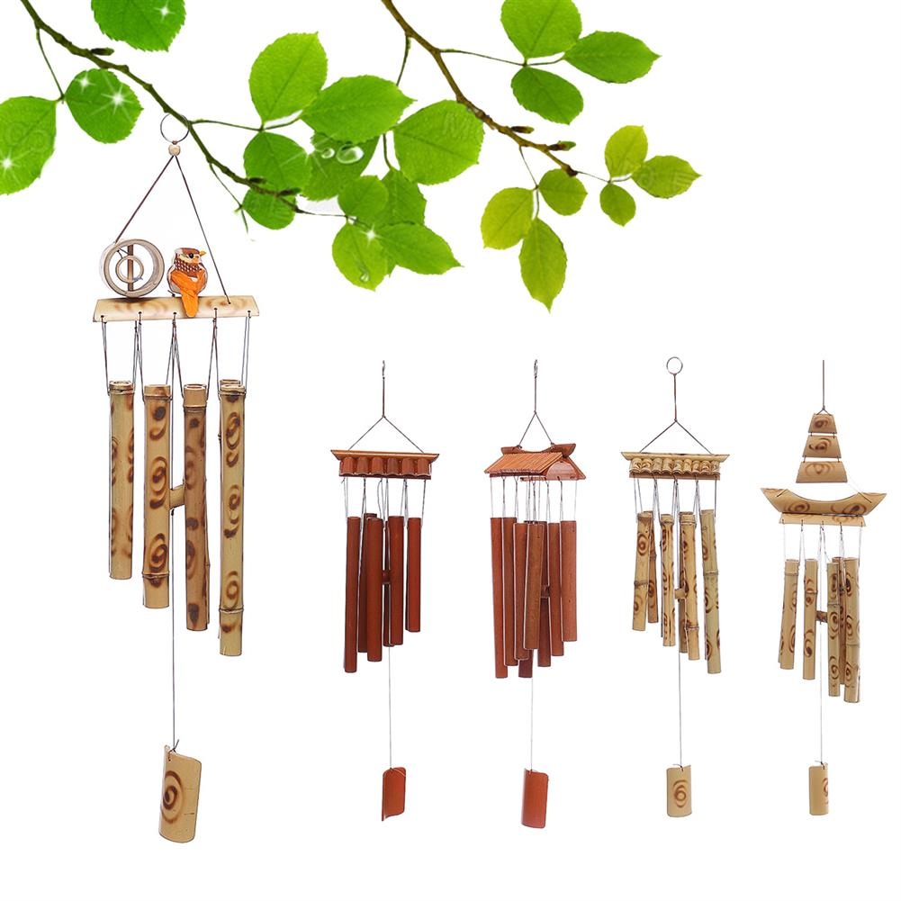 other-learning-office-supplies Bamboo Wind Chimes Natural Handmade Craft Wind Chimes for Home Roof Garden Decoration Bird House HOB1787903 3 1