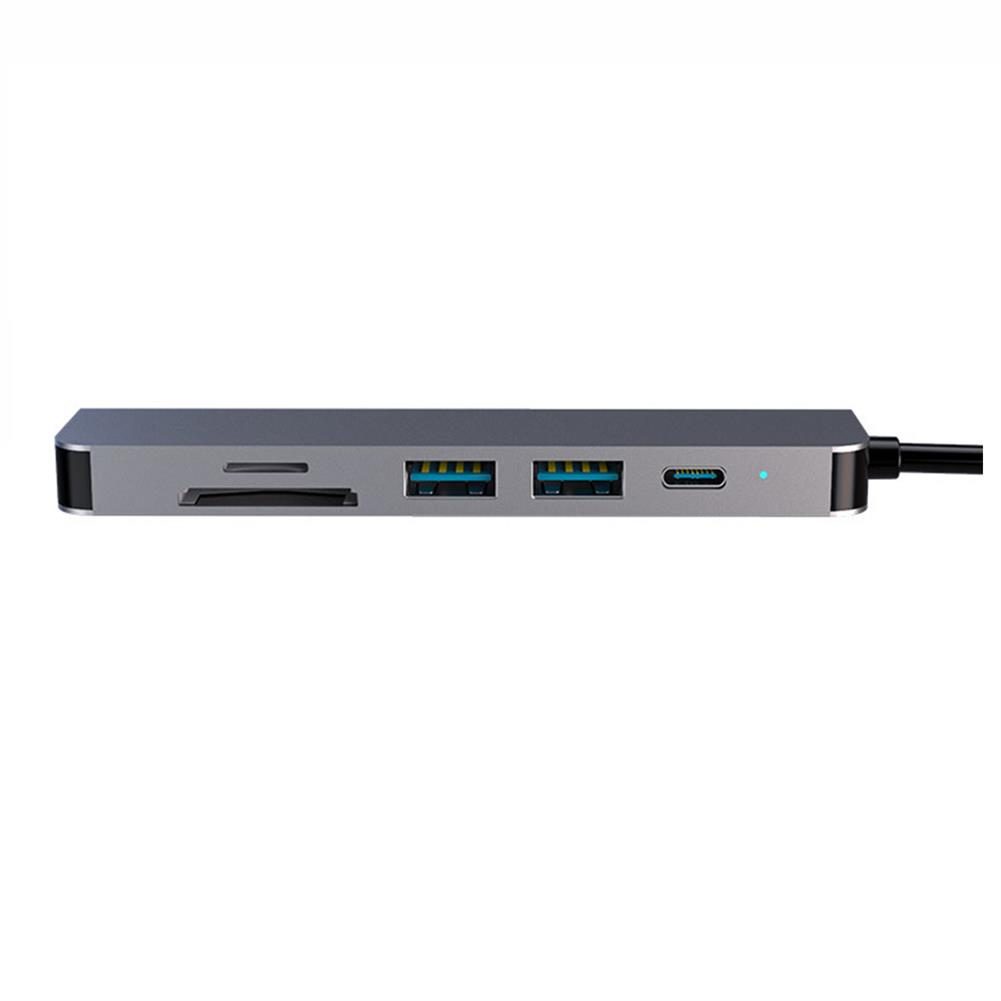 usb-hubs BYL-TC6A USB-C Hub 2*USB3.0 Port HDMI-compatible 4K@30Hz 1080P 60Hz PD Fast Charging Adapter TF SD Reader Type-C Docking Station HOB1788453 1 1