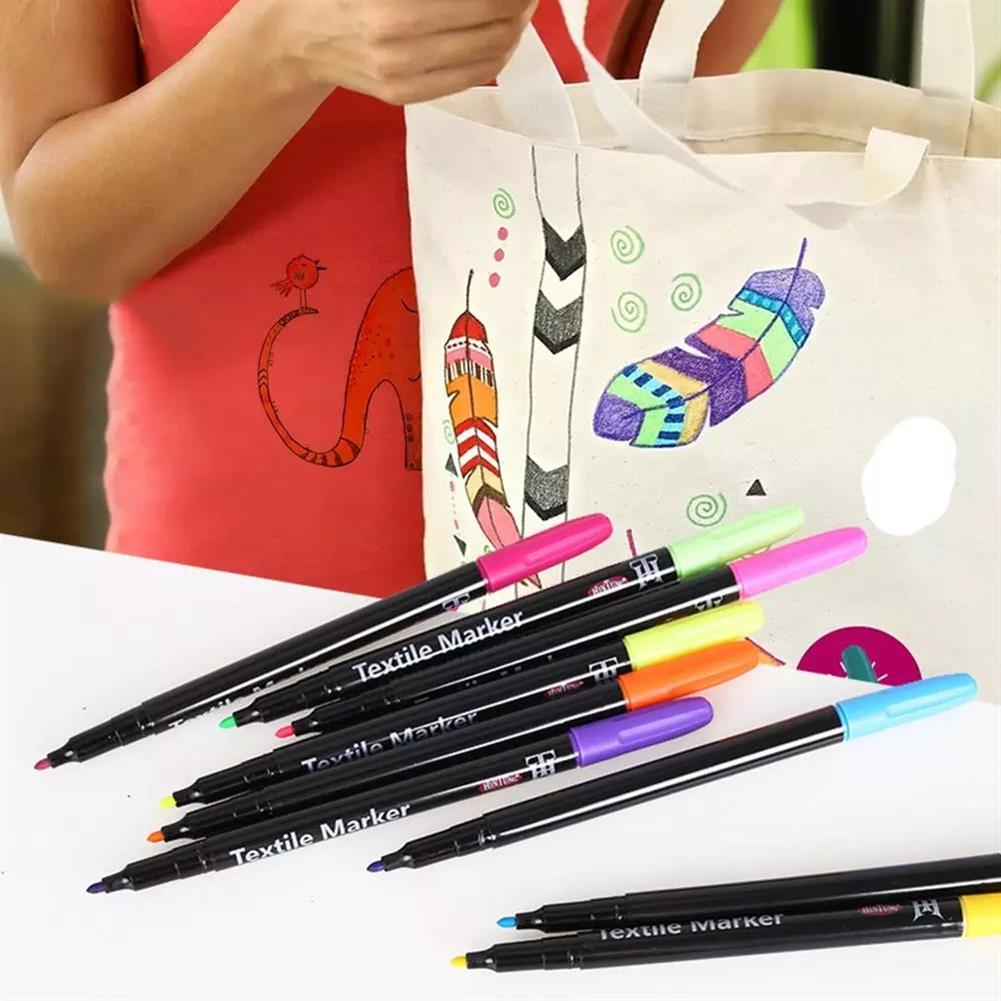 marker 20 Colors Textile Marker Non Toxic Fabric Pen Permanent and Washable T-Shirt Marker for Art Creation Cloth Design Painting Sketching HOB1788612 3 1