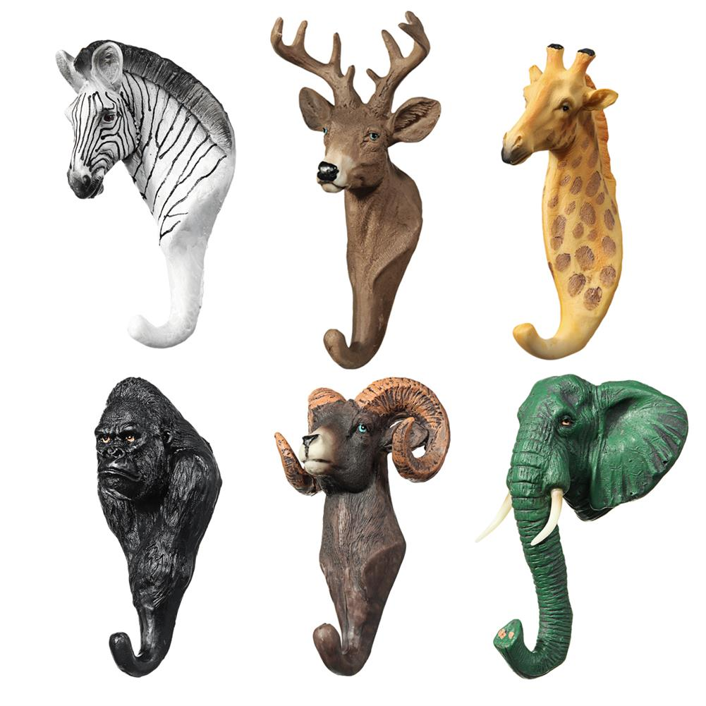 other-learning-office-supplies Creative Animal Head Hook 3 Dimensional Animal Wall Hanging Coat Hook American Country Cafe Bar Shop Wall Decoration HOB1788781 1 1