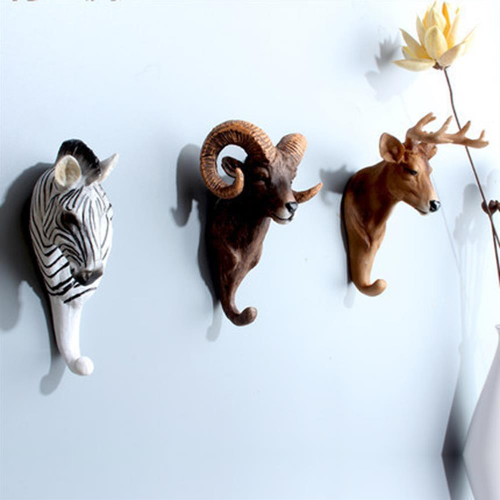 other-learning-office-supplies Creative Animal Head Hook 3 Dimensional Animal Wall Hanging Coat Hook American Country Cafe Bar Shop Wall Decoration HOB1788781 3 1