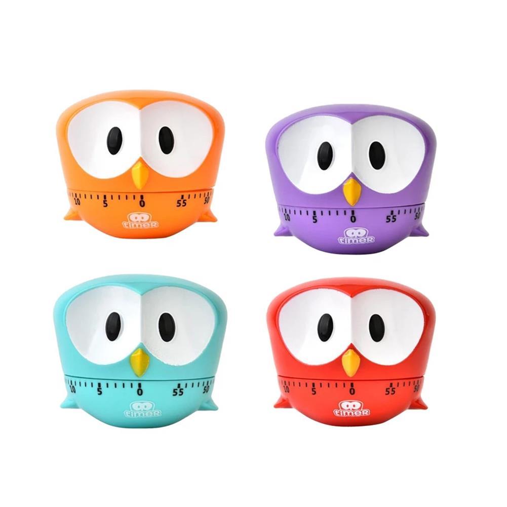 desktop-off-surface-shelves Mini Owl Shape Timer Cartoon Animal Easy Operated Kitchen Cooking Baking Exam Countdown Mechanical Timer Reminder HOB1788852 1