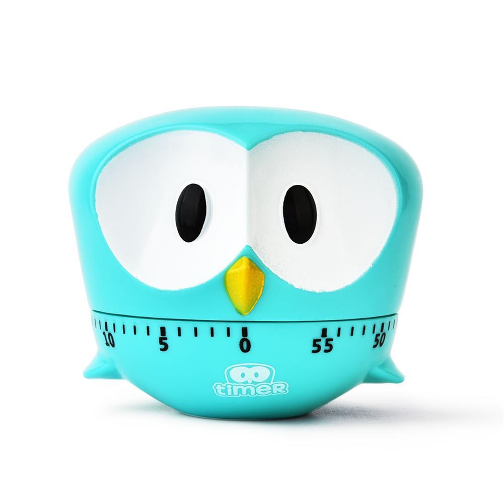 desktop-off-surface-shelves Mini Owl Shape Timer Cartoon Animal Easy Operated Kitchen Cooking Baking Exam Countdown Mechanical Timer Reminder HOB1788852 2 1