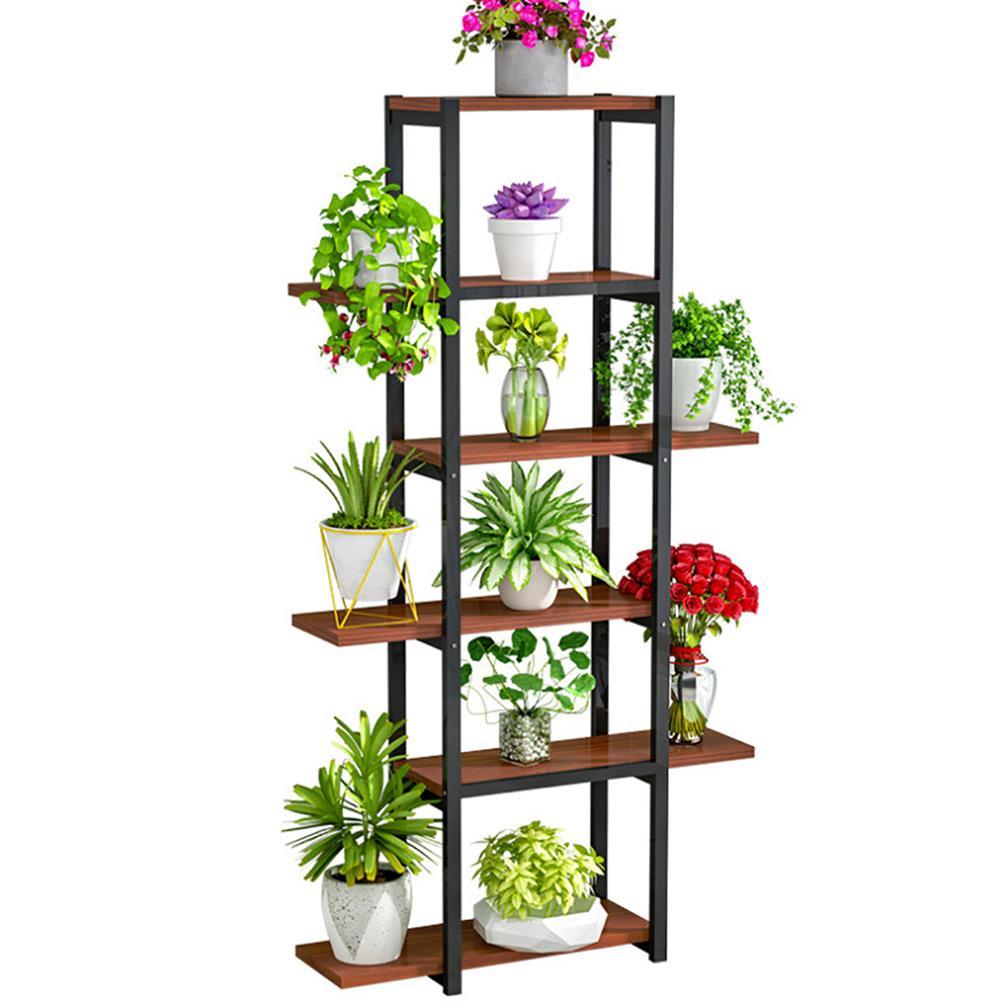 book-stands 6 Layers Home Storage Rack Shelf Display Rack Plant Holder Flower Pot Rack Bookstand indoor Outdoor for Bedroom Living Room HOB1789016 1