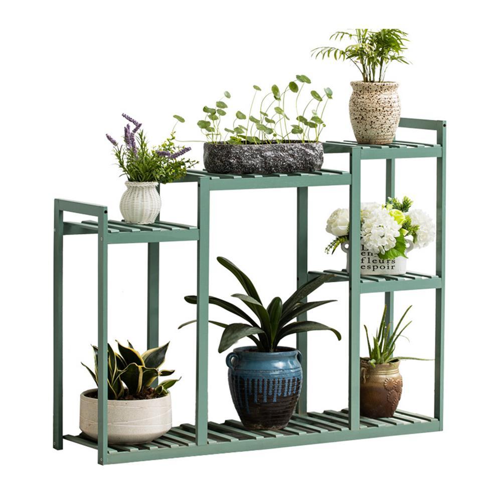 desktop-off-surface-shelves Wood Flower Rack Bamboo Green Plant Storage Shelf indoor Outdoor Garden Planter Flower Pot Stand Home office Decor HOB1789176 1