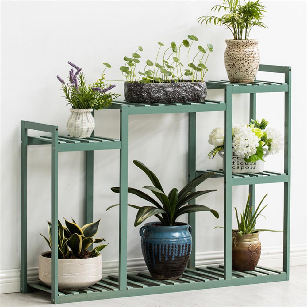 desktop-off-surface-shelves Wood Flower Rack Bamboo Green Plant Storage Shelf indoor Outdoor Garden Planter Flower Pot Stand Home office Decor HOB1789176 1 1