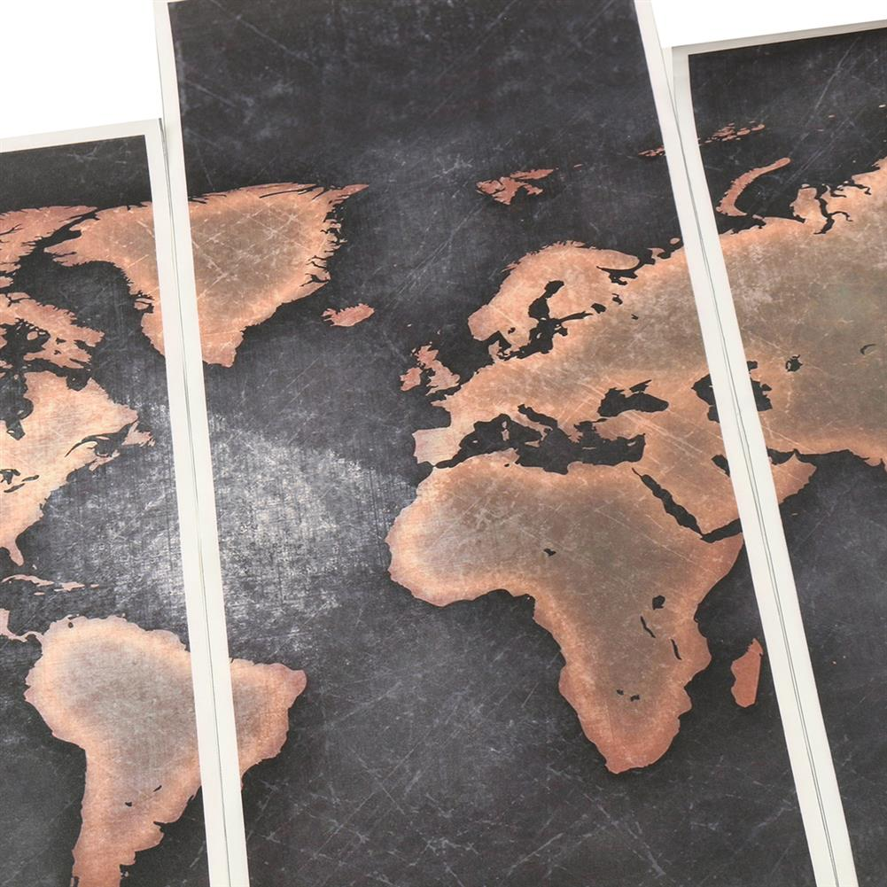 other-learning-office-supplies 5Pcs Modern Canvas Painting Set Frameless World Map theme Home Wall Tapestry Art Painting for Home Decoration HOB1789273 1 1