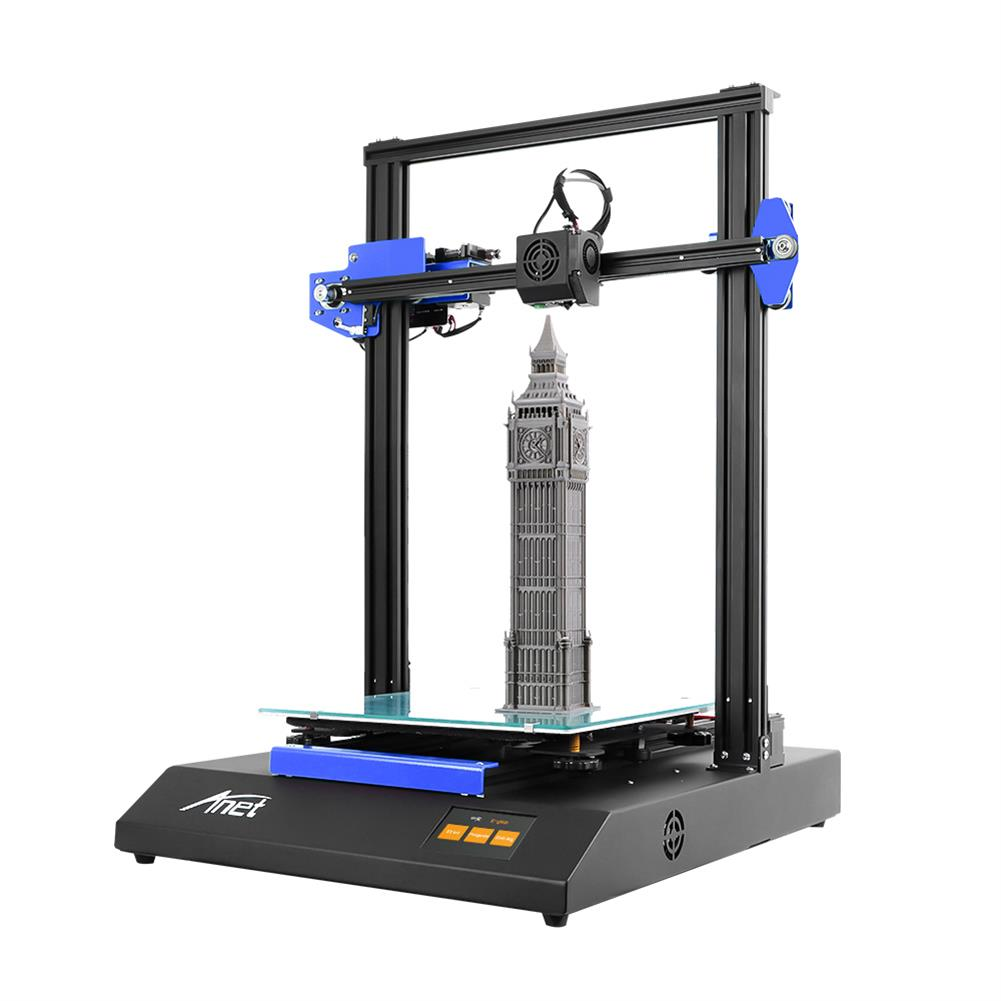 3d-printer Anet ET5X 3D Printer Kit 300x300x400mm Print Volume Support Auto Leveling/Resume Printing with 3.5 inch LCD Color Touch Screen/Upgraded Over-Current Protection Mainboard HOB1789771 1