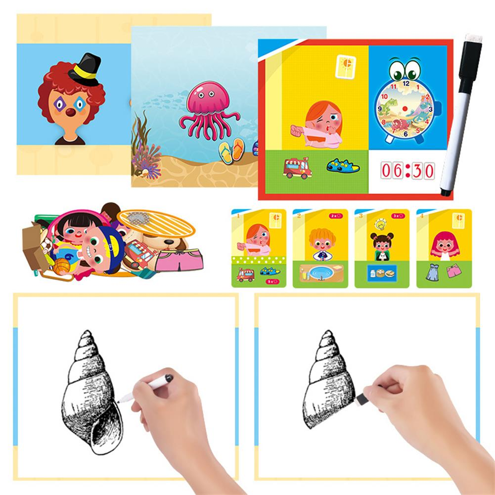 other-learning-office-supplies Magnetic Puzzle Box Early Childhood Education Magnetic Puzzle Toy 3d Dress Up Magnetic Book Children Creativity intellgence Developing Toys HOB1789796 3 1