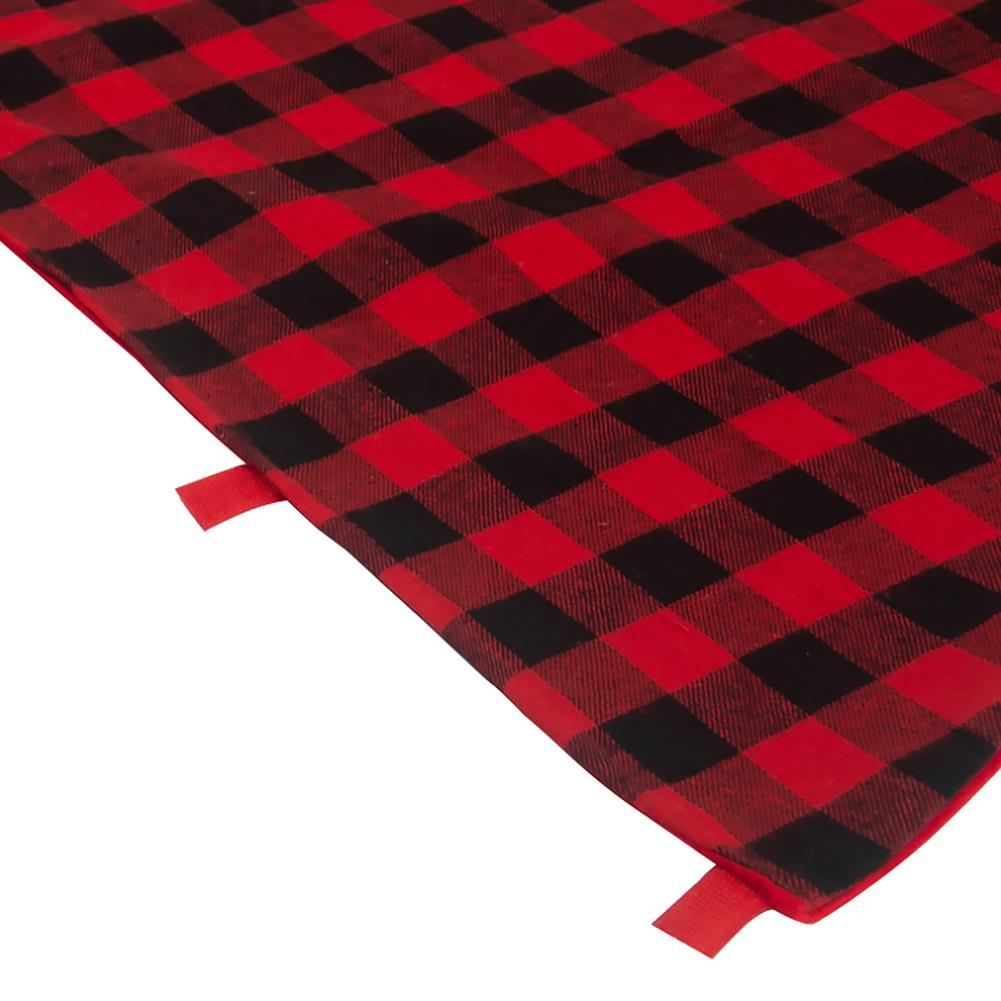 other-learning-office-supplies Christmas Tree Skirt Non Woven Fabric Black And Red Plaid Christmas Tree Mat Christmas Gift Holder for Home Party Decoration HOB1789800 2 1