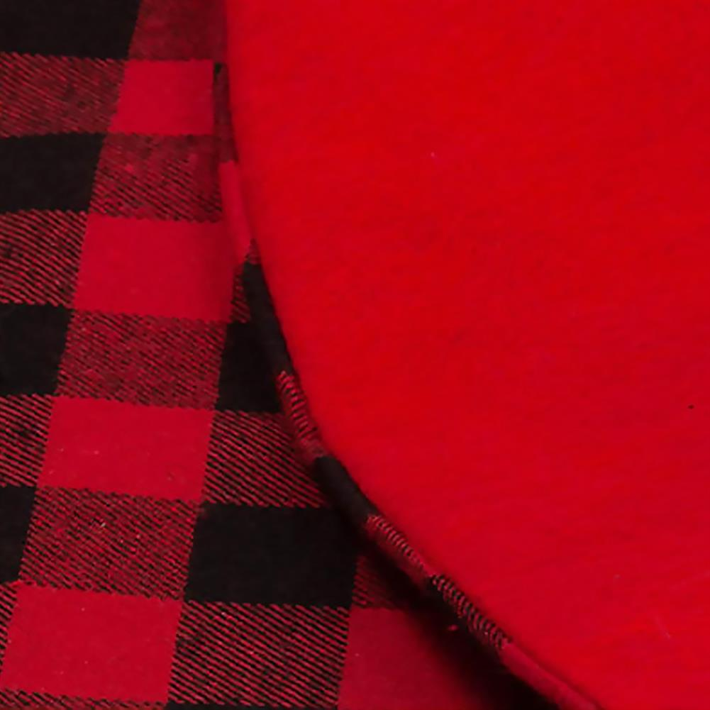 other-learning-office-supplies Christmas Tree Skirt Non Woven Fabric Black And Red Plaid Christmas Tree Mat Christmas Gift Holder for Home Party Decoration HOB1789800 3 1
