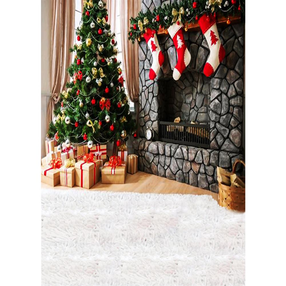 other-learning-office-supplies Photography Backdrop 1.5x2.1m Christmas Tree Red Socks Backdrop Vinyl Photography Photo Background for Home Decoration HOB1789841 1