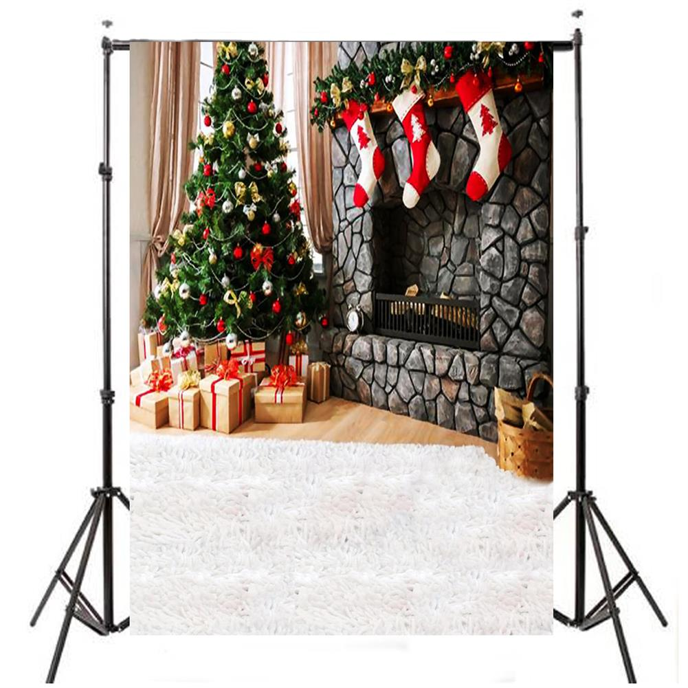 other-learning-office-supplies Photography Backdrop 1.5x2.1m Christmas Tree Red Socks Backdrop Vinyl Photography Photo Background for Home Decoration HOB1789841 1 1