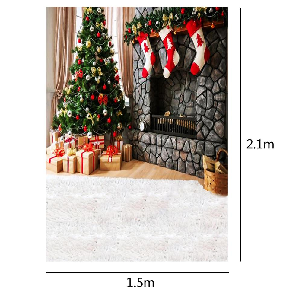 other-learning-office-supplies Photography Backdrop 1.5x2.1m Christmas Tree Red Socks Backdrop Vinyl Photography Photo Background for Home Decoration HOB1789841 2 1