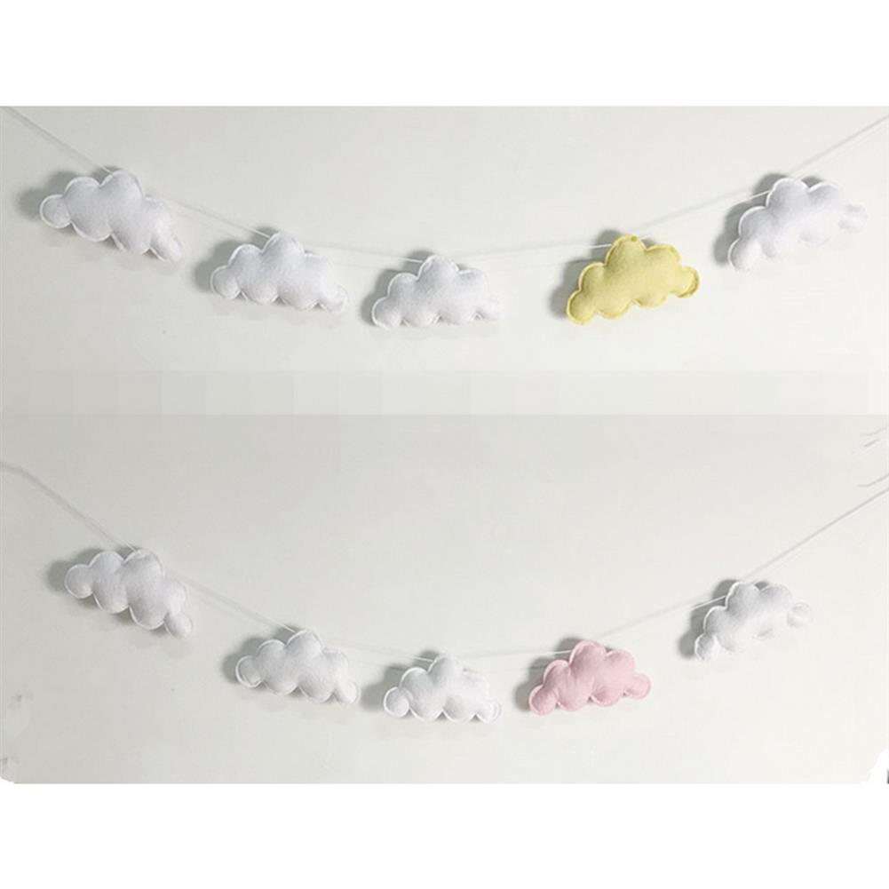 other-learning-office-supplies 5Pcs Simple Cloud Garland Ornament Nordic Style Crib Baby Bed Bell Bedroom Wall Hanging Home Decoration Gift HOB1789886 2 1
