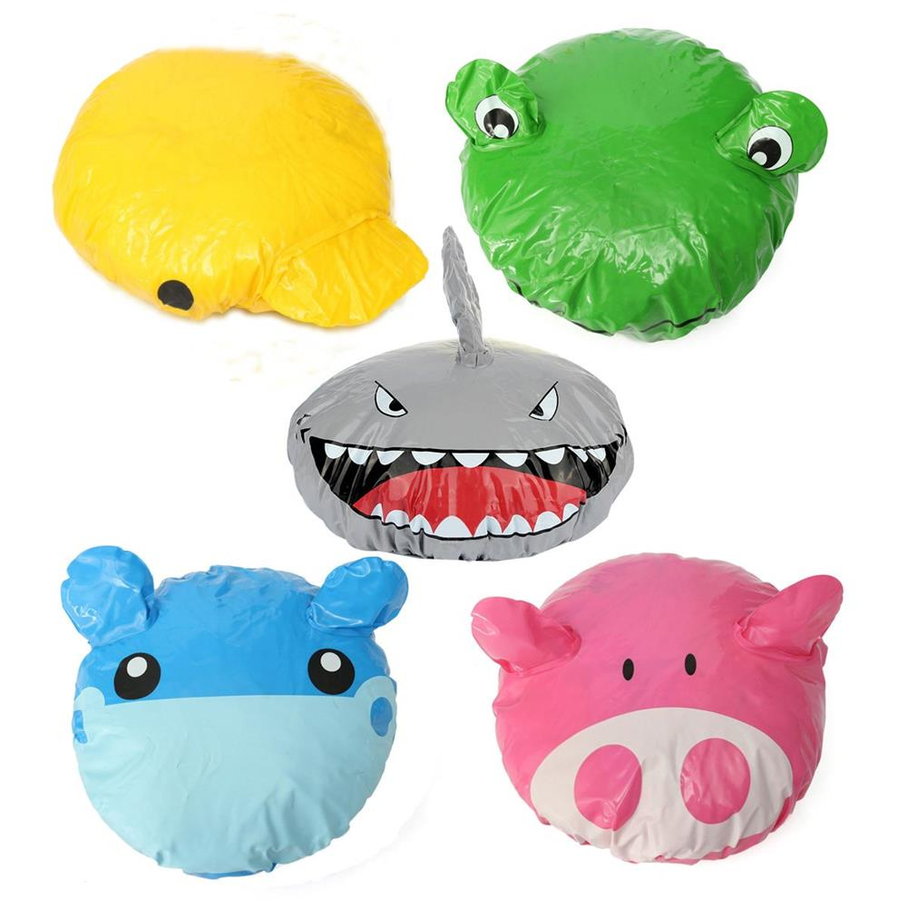 other-learning-office-supplies Animal Shape Shower Cap Cute Cartoon Animal Design Waterproof PVC Elastic Spa Shower Cap for Children Adult Home Supplies HOB1789918 1
