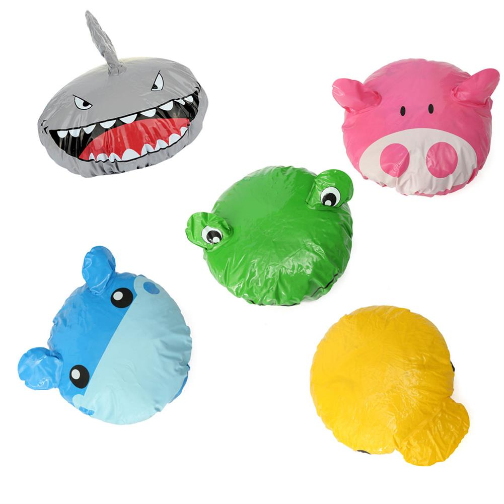other-learning-office-supplies Animal Shape Shower Cap Cute Cartoon Animal Design Waterproof PVC Elastic Spa Shower Cap for Children Adult Home Supplies HOB1789918 1 1