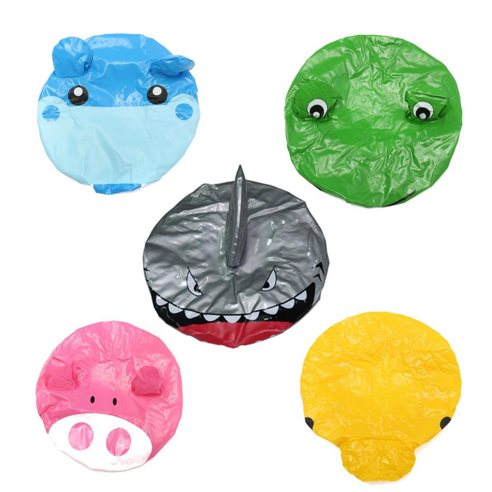 other-learning-office-supplies Animal Shape Shower Cap Cute Cartoon Animal Design Waterproof PVC Elastic Spa Shower Cap for Children Adult Home Supplies HOB1789918 2 1