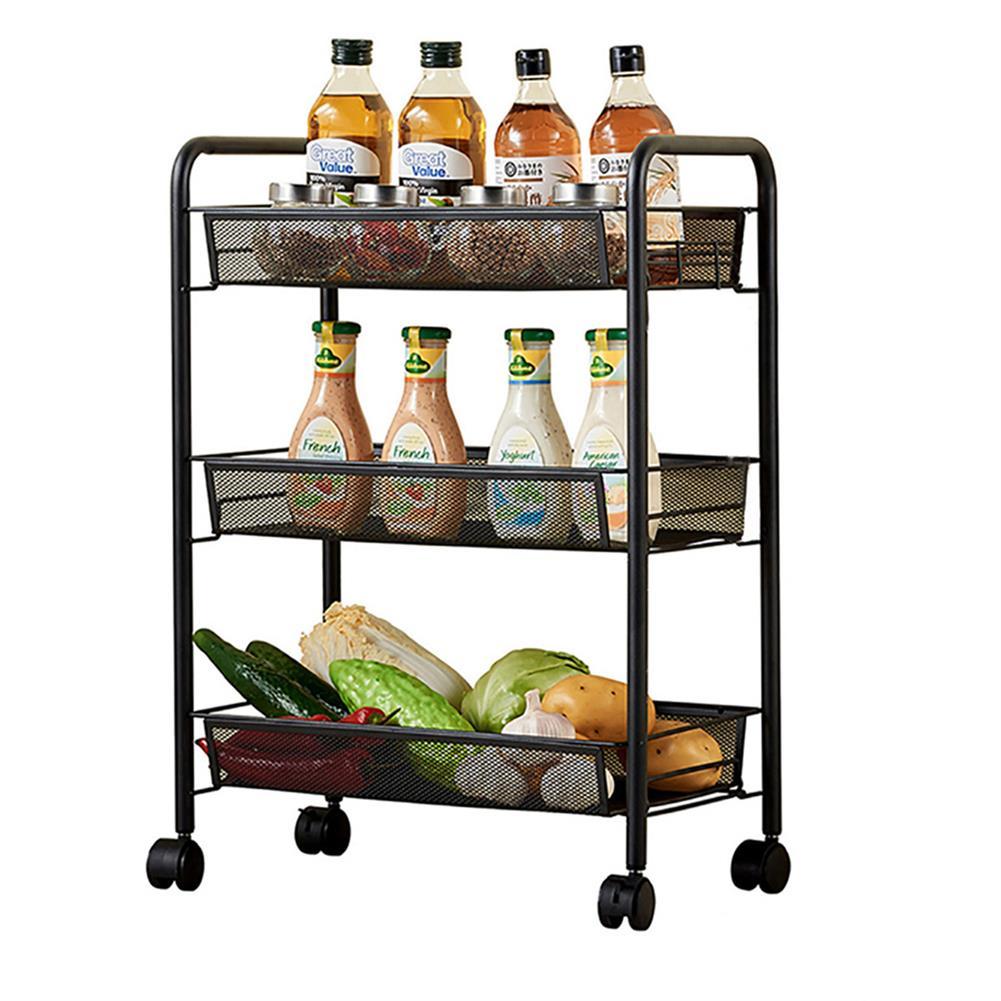 desktop-off-surface-shelves 3 Tiers Trolley Cart Kitchen Bathroom Storage Rack Tableware Bowls Dish Holder Fruit Vegetable Shelves office File Tray HOB1789936 1