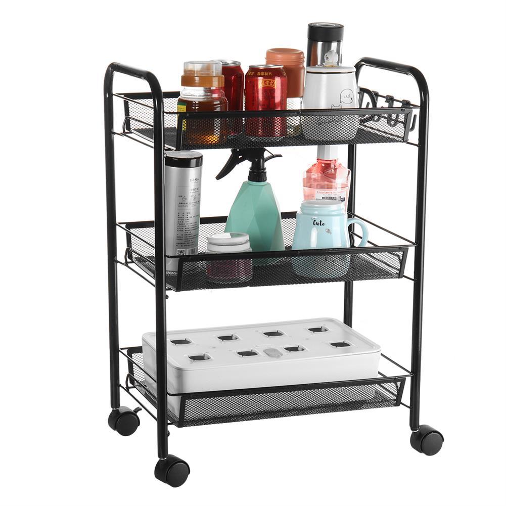 desktop-off-surface-shelves 3 Tiers Trolley Cart Kitchen Bathroom Storage Rack Tableware Bowls Dish Holder Fruit Vegetable Shelves office File Tray HOB1789936 1 1