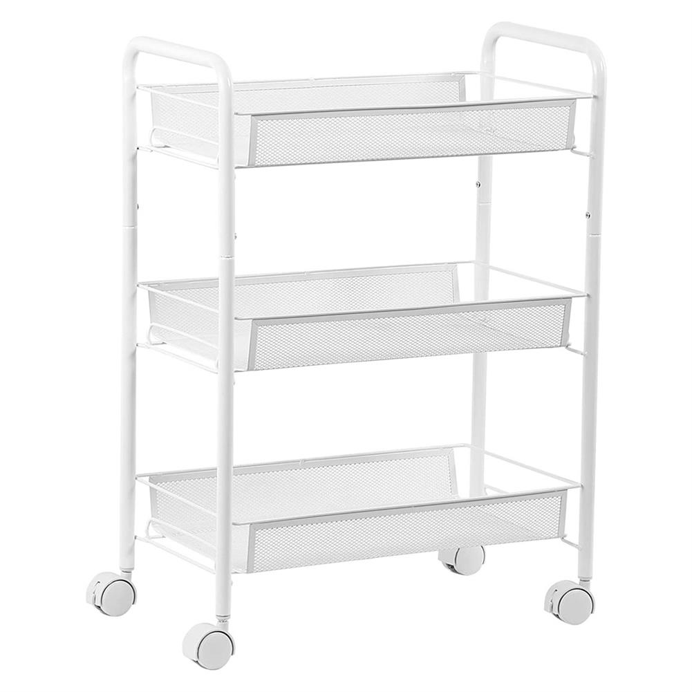 desktop-off-surface-shelves 3 Tiers Trolley Cart Kitchen Bathroom Storage Rack Tableware Bowls Dish Holder Fruit Vegetable Shelves office File Tray HOB1789936 2 1