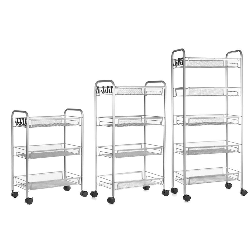 desktop-off-surface-shelves 3/4 Tiers Trolley Cart Kitchen Bathroom Storage Rack Tableware Bowls Dish Holder Fruit Vegetable Shelves Sundries Organizer HOB1790013 1
