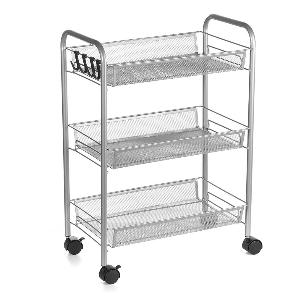 desktop-off-surface-shelves 3/4 Tiers Trolley Cart Kitchen Bathroom Storage Rack Tableware Bowls Dish Holder Fruit Vegetable Shelves Sundries Organizer HOB1790013 1 1