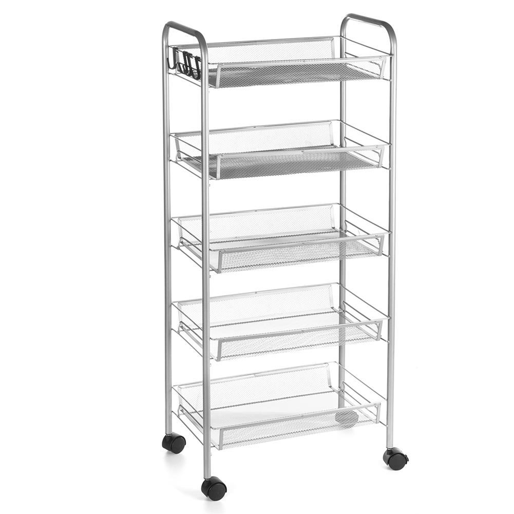 desktop-off-surface-shelves 3/4 Tiers Trolley Cart Kitchen Bathroom Storage Rack Tableware Bowls Dish Holder Fruit Vegetable Shelves Sundries Organizer HOB1790013 3 1