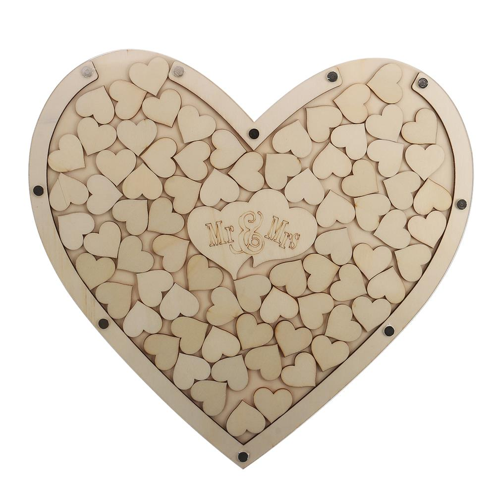 other-learning-office-supplies Wedding Signing Board Heart Shape Wooden Wedding Sign Heart Drop Box for Guest Book Message Box Wedding Gift HOB1790024 2 1