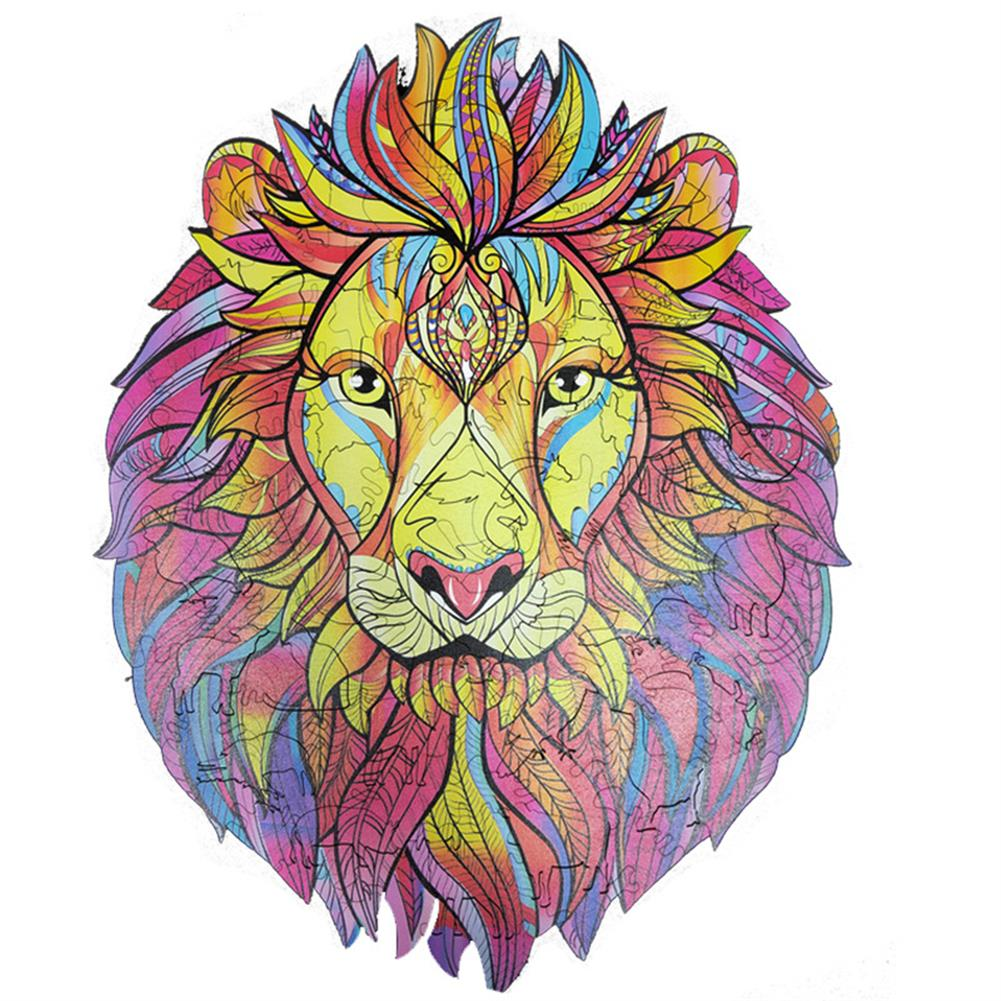 other-learning-office-supplies A3/A4/A5 Wooden Cartoon Lion Puzzle Colorful Mysterious Charming Early Education Toys Gifts for Childrens Adults Kids HOB1790269 1