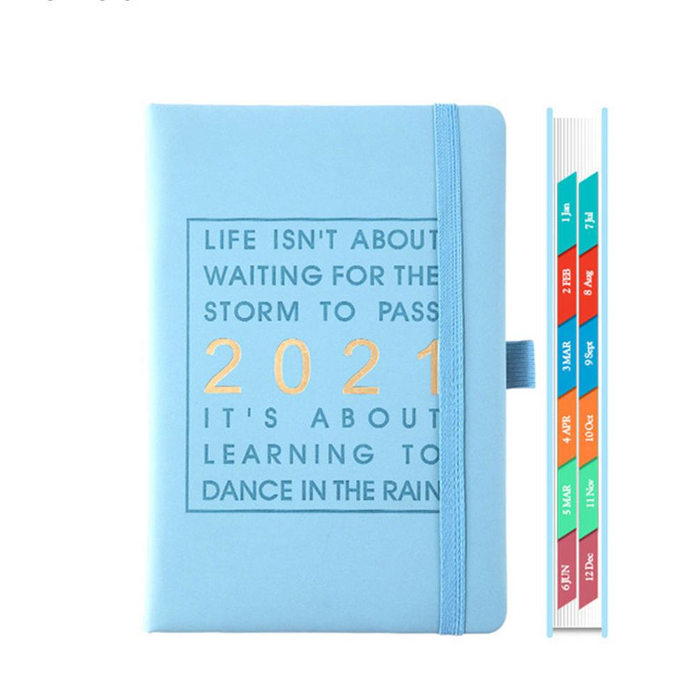 paper-notebooks A5 Agenda 2021 planner Notebook Jan-Dec English Language 164 Sheet PU Leather Soft Cover School Planner Business Schedule Journal HOB1790886 1 1