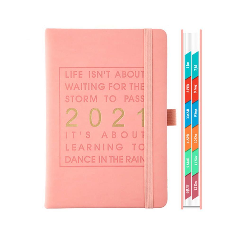 paper-notebooks A5 Agenda 2021 planner Notebook Jan-Dec English Language 164 Sheet PU Leather Soft Cover School Planner Business Schedule Journal HOB1790886 3 1