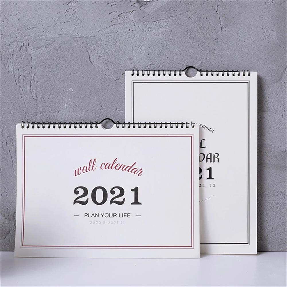 paper-notebooks 2021 Wall Calendar Weekly Monthly Planner Agenda Organizer Home office Desktop Ornament for Schedule Daily Record HOB1790897 1