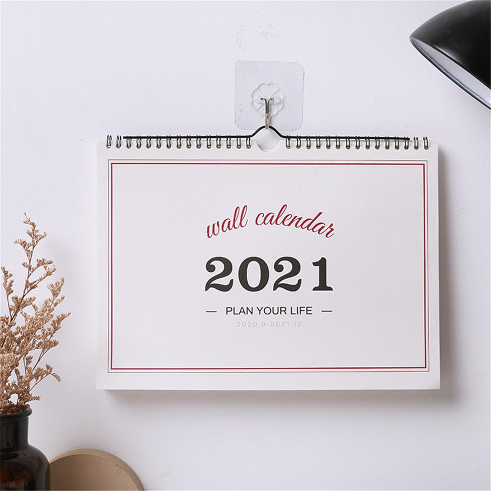paper-notebooks 2021 Wall Calendar Weekly Monthly Planner Agenda Organizer Home office Desktop Ornament for Schedule Daily Record HOB1790897 1 1