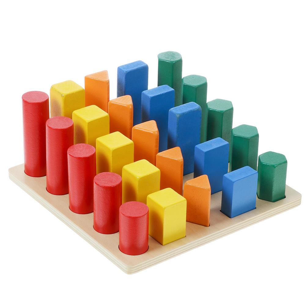 other-learning-office-supplies Kids Wooden Geometric Toys Shape Color Cognition Hand Eye Coordination Training Early Educational Puzzle Toys HOB1791237 1