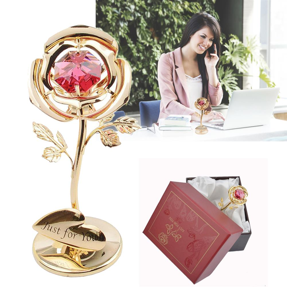 other-learning-office-supplies Golden Rose Flower 24K Gold Foil Plated Rose with Red Crystral Romantic Christmas Gift Anniversity Love Gifts HOB1791254 1