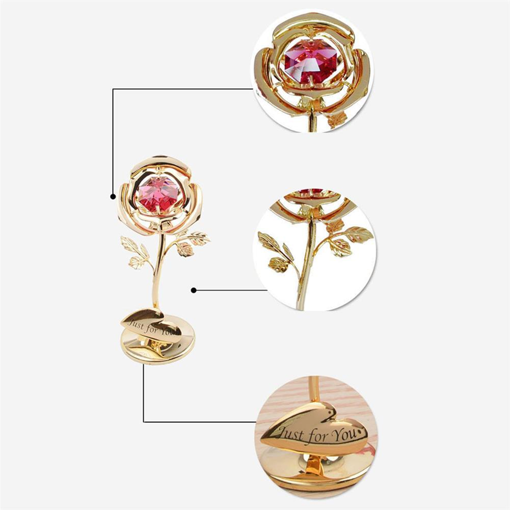 other-learning-office-supplies Golden Rose Flower 24K Gold Foil Plated Rose with Red Crystral Romantic Christmas Gift Anniversity Love Gifts HOB1791254 1 1