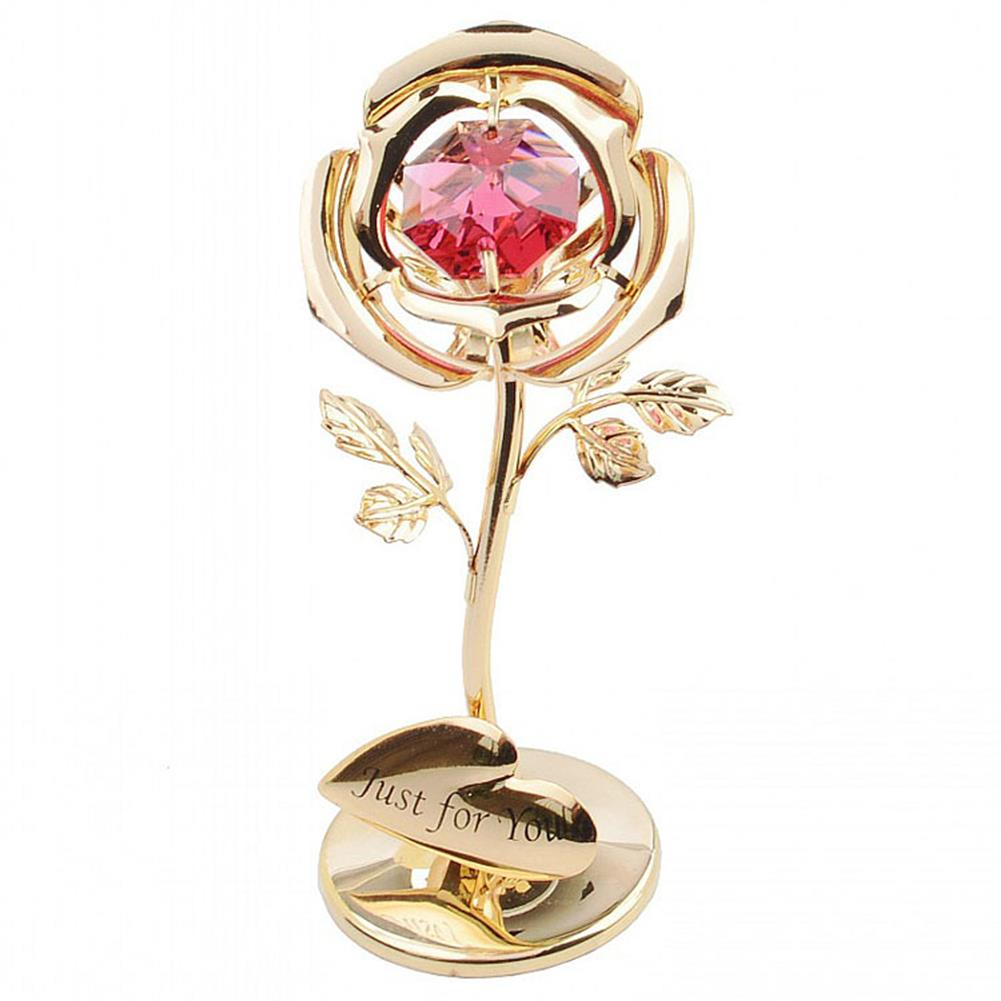 other-learning-office-supplies Golden Rose Flower 24K Gold Foil Plated Rose with Red Crystral Romantic Christmas Gift Anniversity Love Gifts HOB1791254 2 1