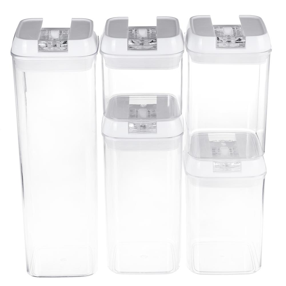 other-learning-office-supplies Air-Tight Food Storage Container for Cereals Easy Lock Sealed Jar Plastic Transparent Milk Powder Grains Candy Kitchen Organizer HOB1791271 1