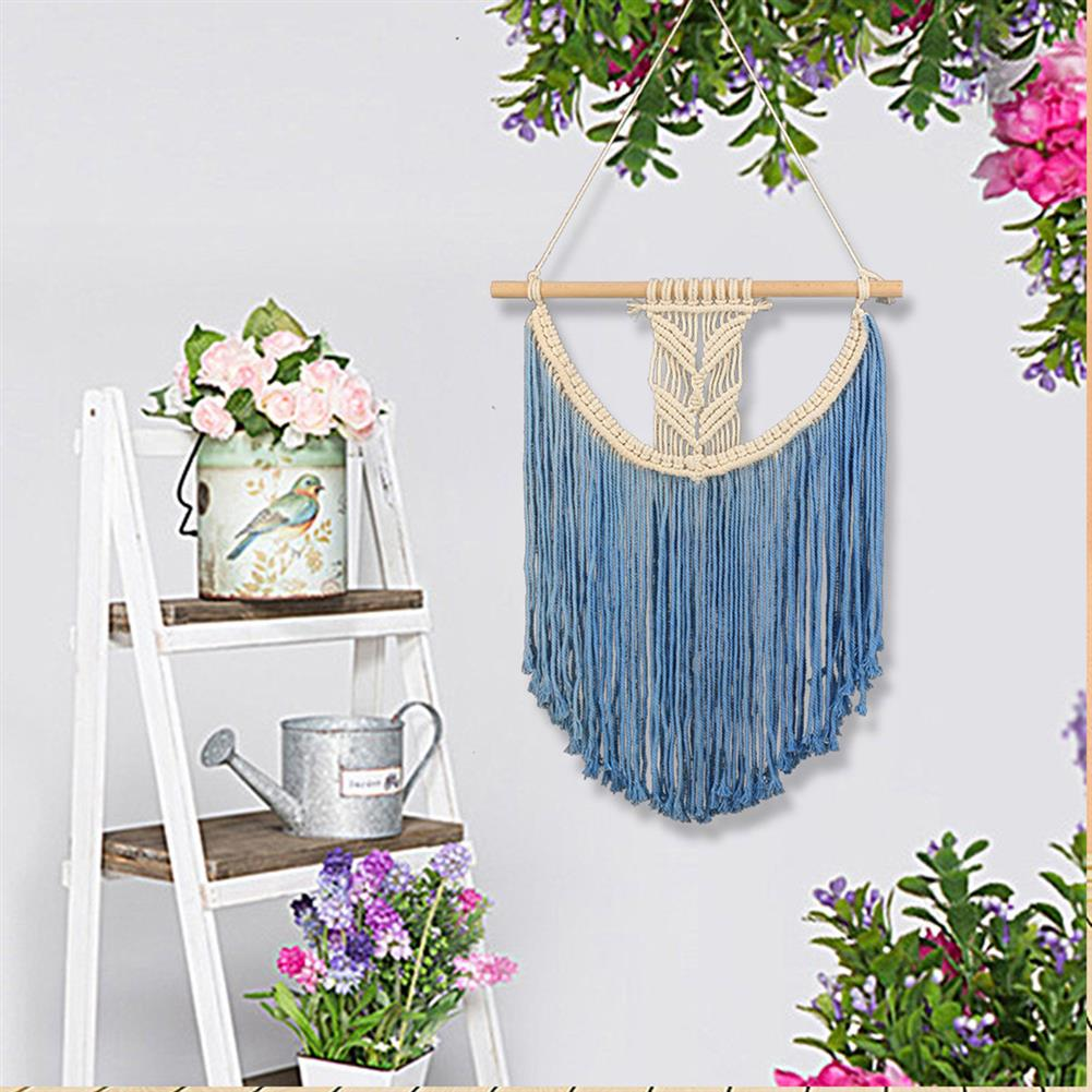 other-learning-office-supplies Macrame Wall Hanging Tapestry Hand Woven Pendant Decoration House Ceremony Living Room Home Furnishing Accessories HOB1791277 1 1