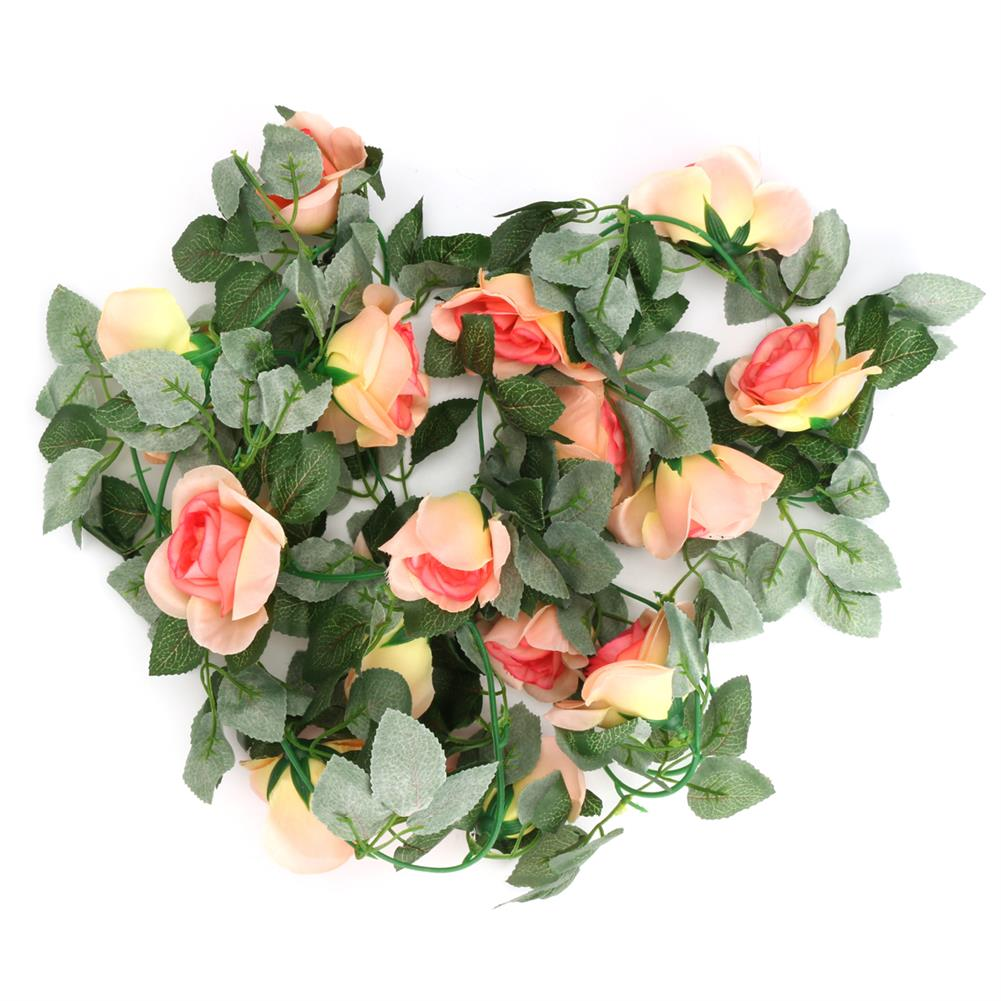 other-learning-office-supplies Artificial Flower Garland Ivy Vine Silk Flowers Hanging Garland Plant for Birthday Wedding Party Home Decoration HOB1791390 3 1