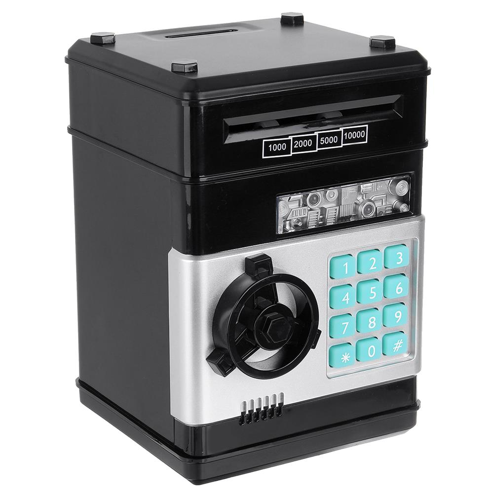 other-learning-office-supplies ATM Deposit Machine Toy Electric Bank with Music Automatic Roll Up Code Safe Mini Deposit Box Safe for Children Gift HOB1791712 1 1