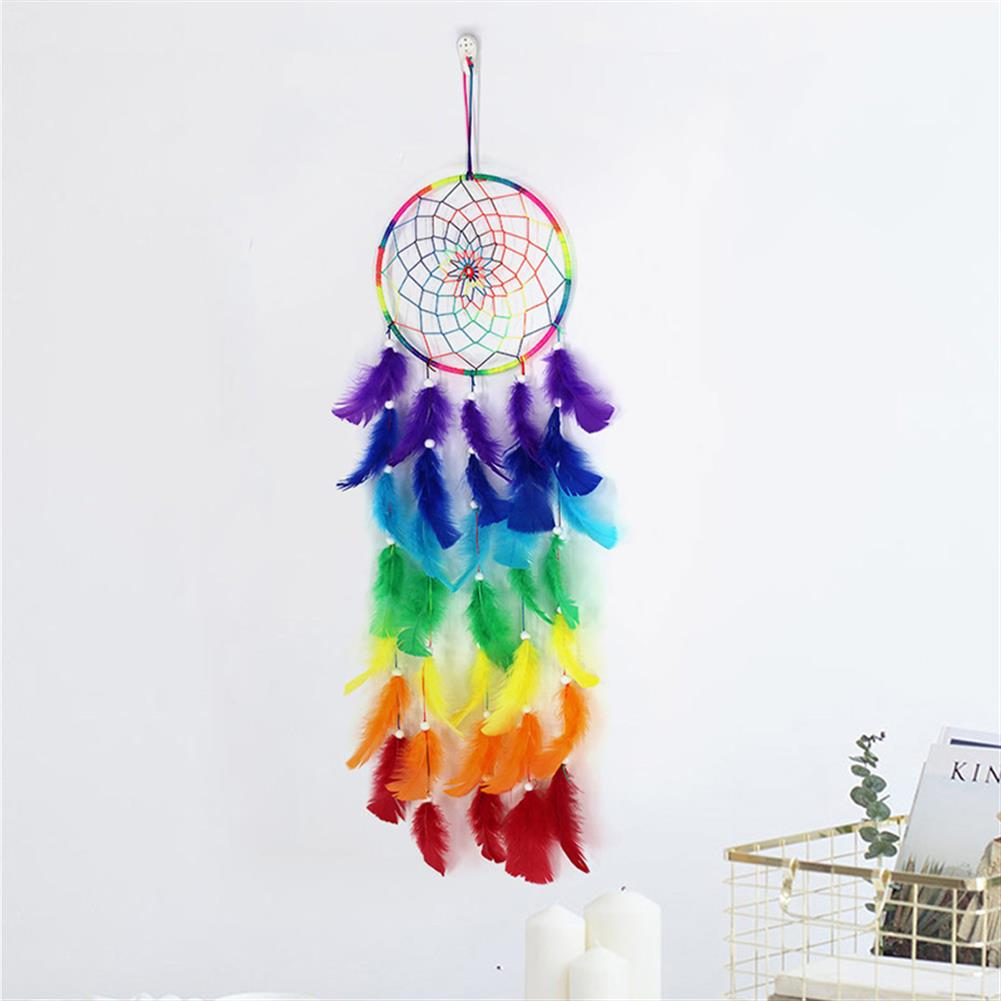 other-learning-office-supplies 7 Color Dream Catcher Colorful Dreamcatchers Handmade Nordic Bohemian Style Dream Catcher Wedding Home Decoration HOB1791741 1 1