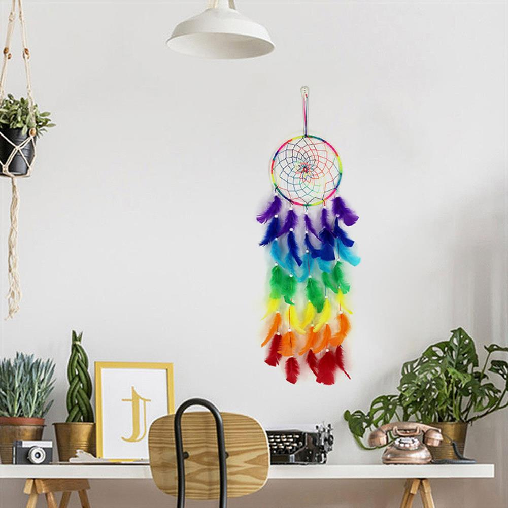 other-learning-office-supplies 7 Color Dream Catcher Colorful Dreamcatchers Handmade Nordic Bohemian Style Dream Catcher Wedding Home Decoration HOB1791741 2 1