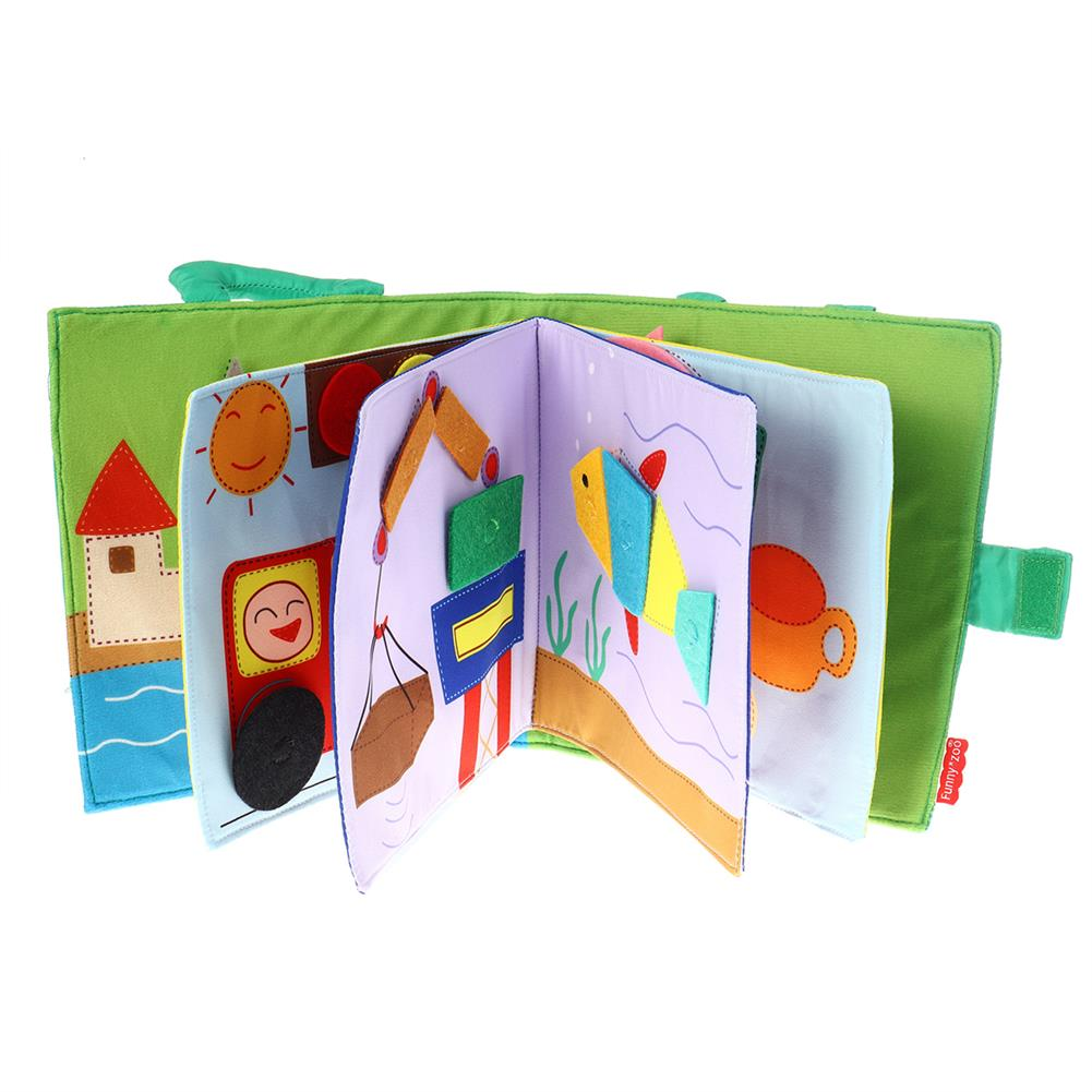 other-learning-office-supplies Funnyzoo Card Books Tangram Puzzle Shape Matching Cloth Book Montessori Early Childhood Education for infant Babies HOB1791757 1